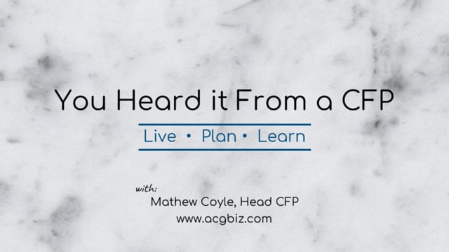 You heard it From a CFP Episode 14: Financial Advisors