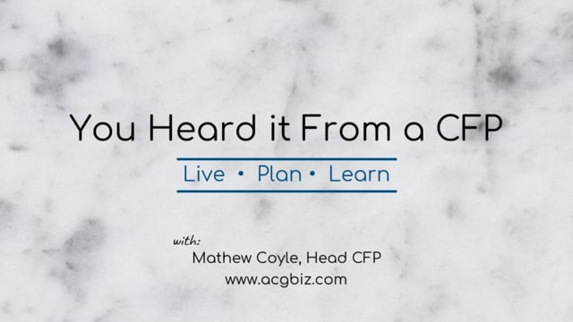 You heard it From a CFP Episode 15: Life Insurance