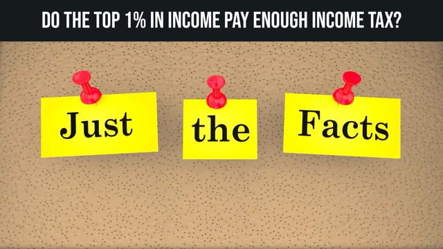 Do The Top 1% In Income Pay Enough Income Tax?