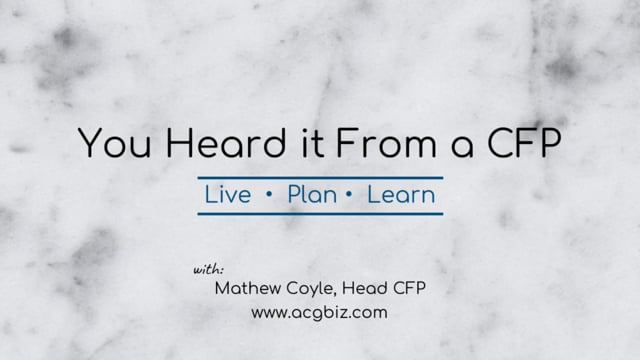 You heard it From a CFP Episode 13: Markets and Investing